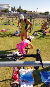 transição triathlon